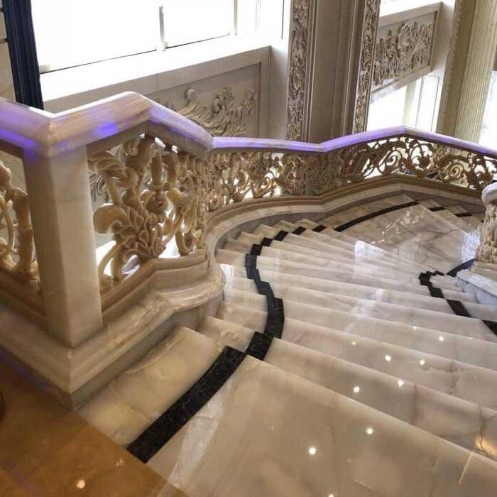 cầu thang đá biệt thự